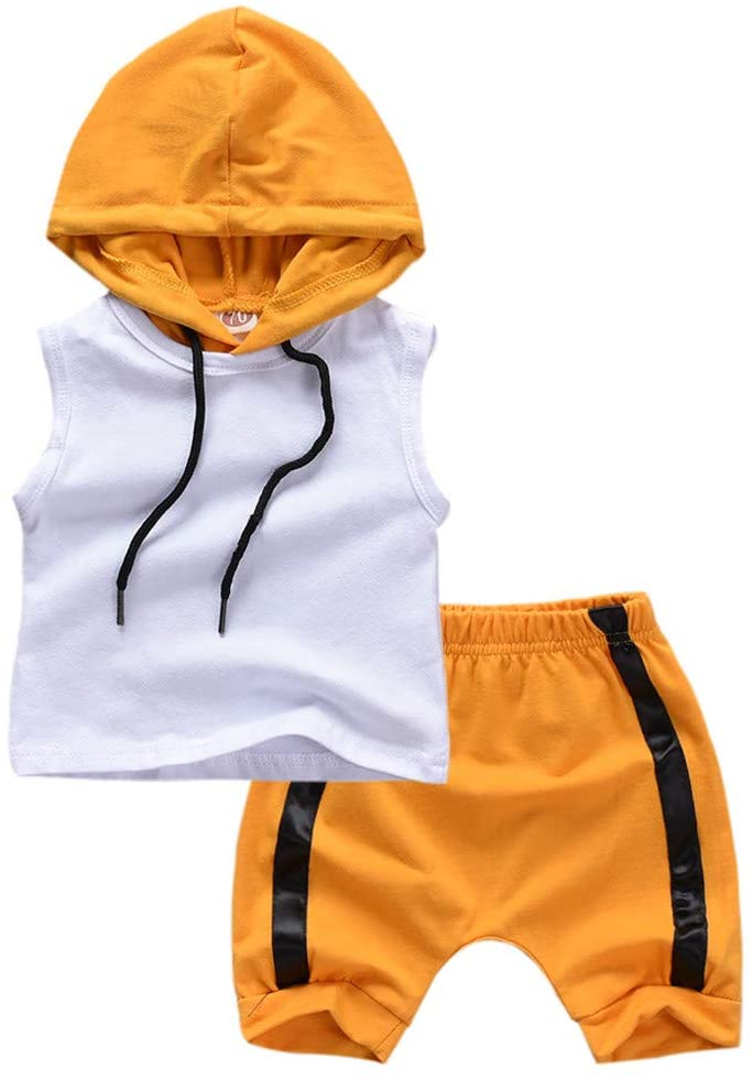 Fineday Boys Outfits&Set, Kids Infant Newborn Baby Boy Kid Hooded Vest Tops Shorts Outfits Set Clothes, Clothes for Boys and Girls