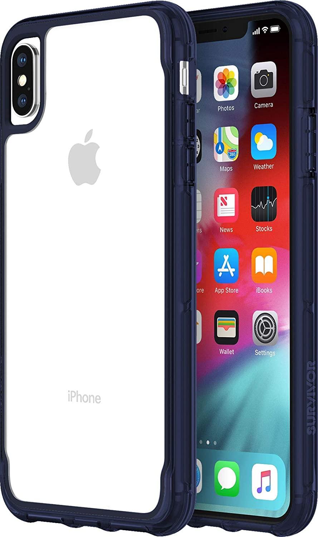 Griffin Survivor GIP-012-CIR Clear Case for Apple iPhone Xs Max Transparent/Blue