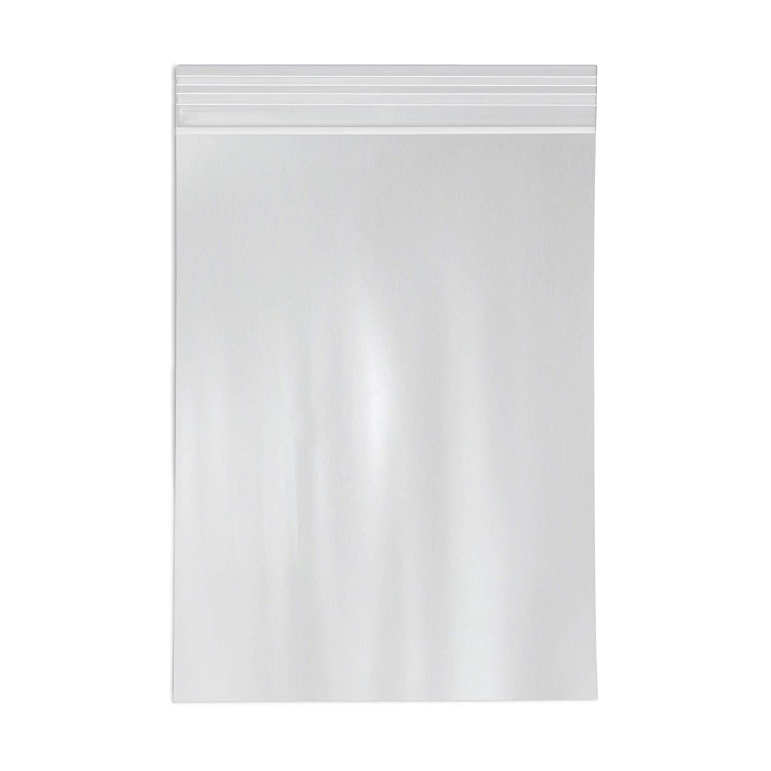 """10"""" x 13"""" Clear Zip Reclosable Poly Bags by SPC, 500 Count - Multiple Sizes Available - Strong Resealable Lock Seal - 2 Mil"""