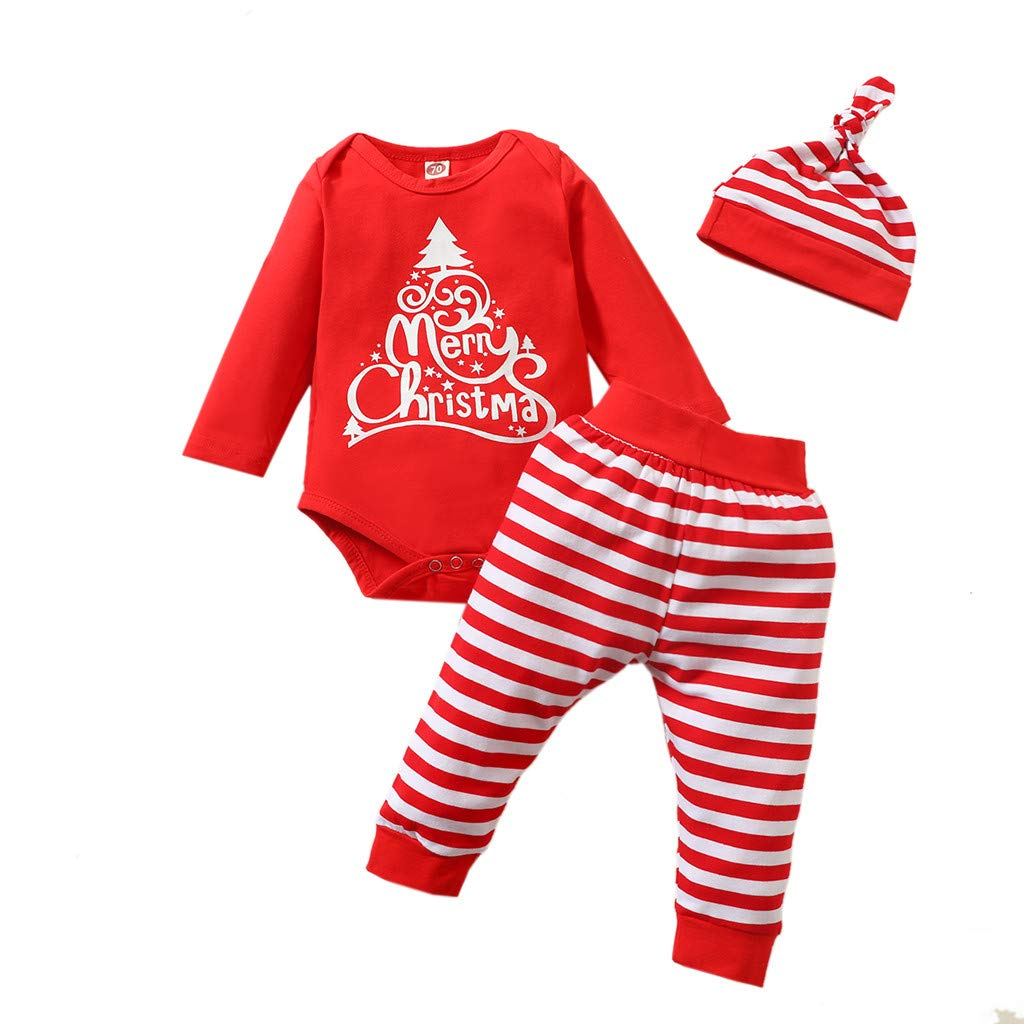 Baby Girl Outfits Set Cute Newborn Baby Girls Suspender Rainbow Tops+Ruched Shorts+Headbands Summer Set Christmas Fall Winter Clothes Sets