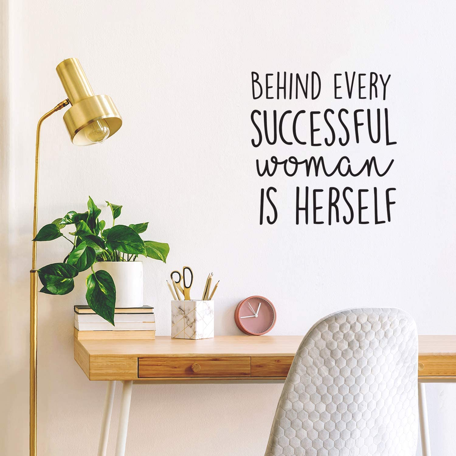 Vinyl Wall Art Decal - Behind Every Successful Woman is Herself - 23
