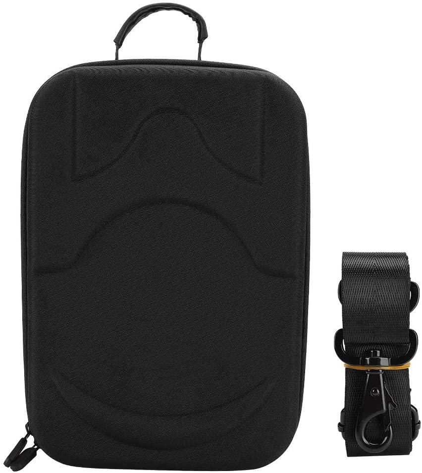 sjlerst with Comfortable Handle VR Headset Protective Case Portable Carrying Case Black/Grey Nylon with Shoulder Strap for Xiaomi(Black)