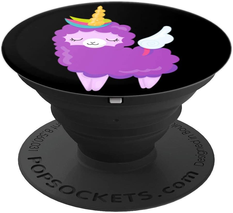 Cute Rainbow Llama Unicorn PACJ0097 PopSockets Grip and Stand for Phones and Tablets