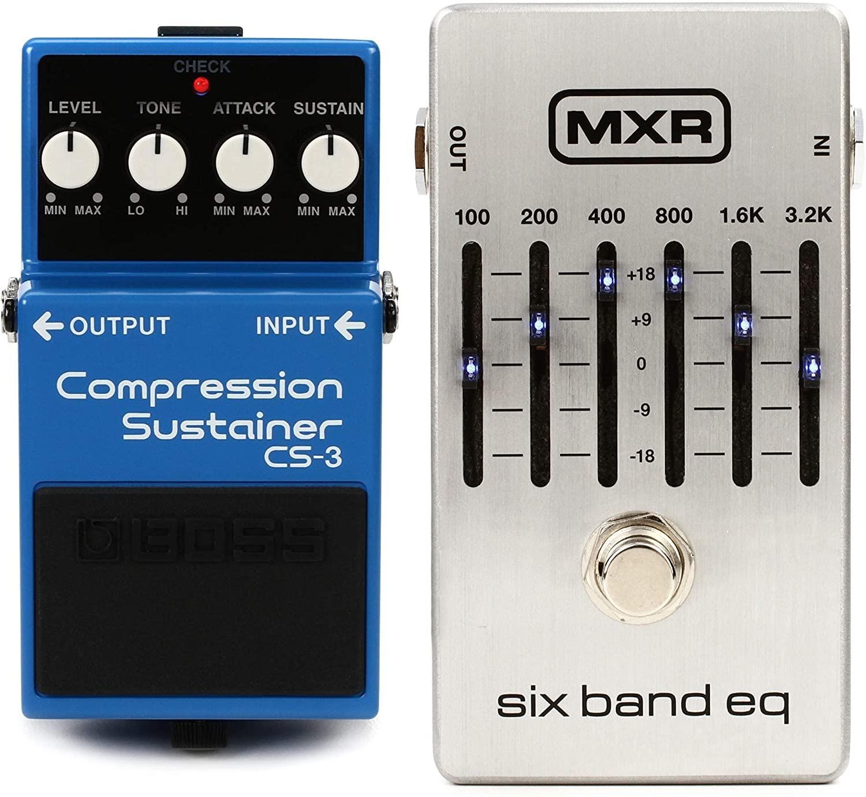 Boss CS-3 Compression Sustainer Pedal + MXR M109S Six Band EQ Pedal Value Bundle