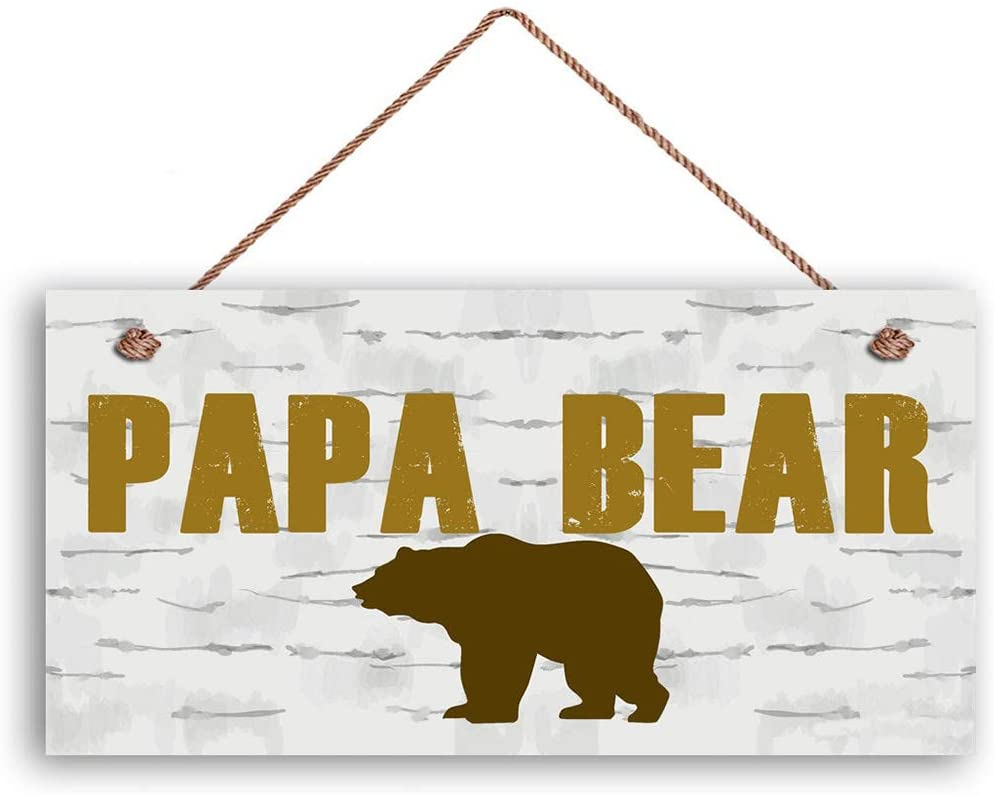 MAIYUAN PAPA Bear Sign, Gift for Dad, Gift for Father, Gift for Grandparent, 6