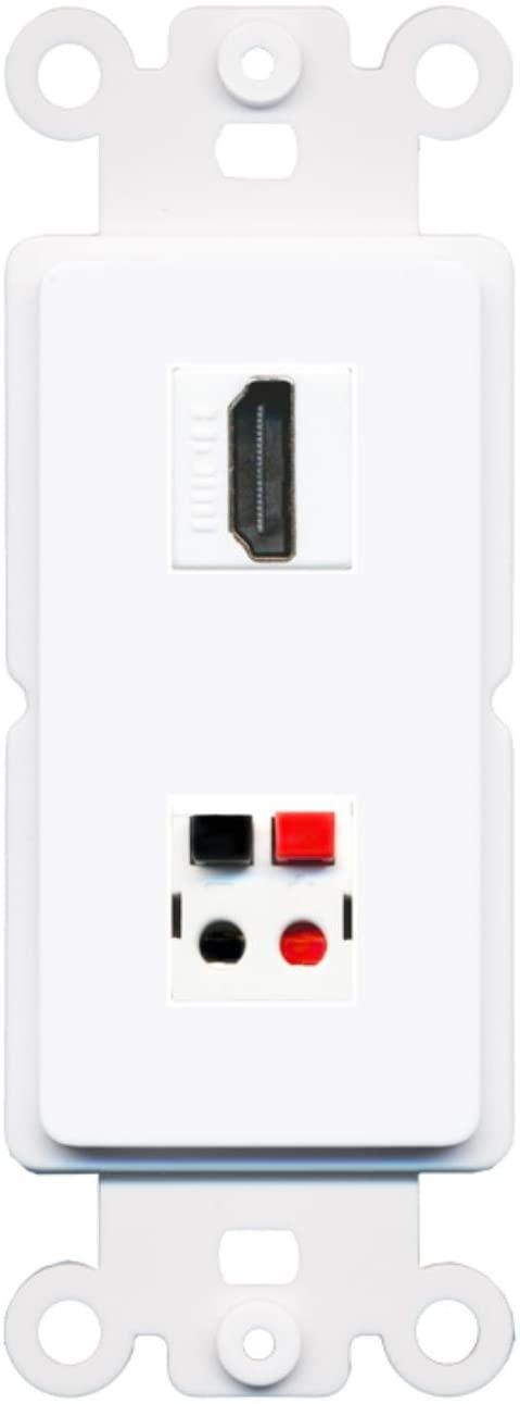 RiteAV HDMI Speaker Wall Plate Insert White