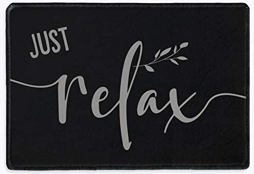 Just Relax Bathroom Doormat Bath Toilet Sign Rug Mat | Rustic Farmhouse Decor | Housewarming Gifts