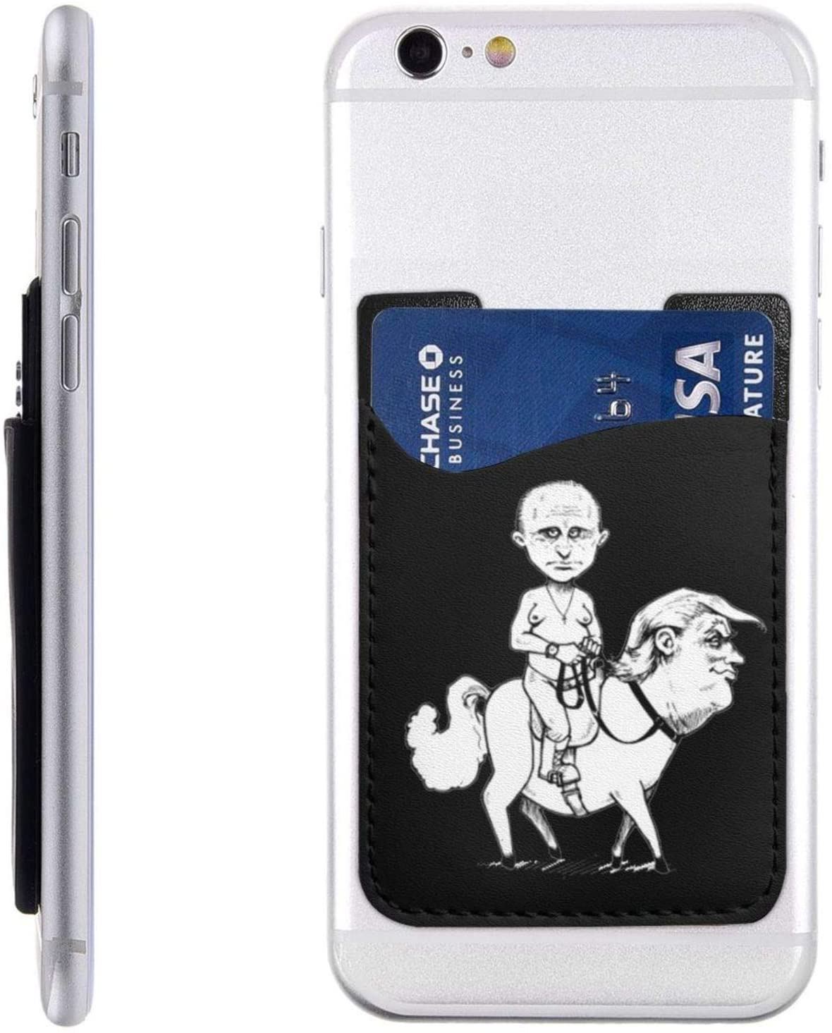 Friends Phone Card Holder, Stick-On Id Credit Card Wallet Phone Case Pouch Sleeve Pocket for iPhone, Android and All Smartphones
