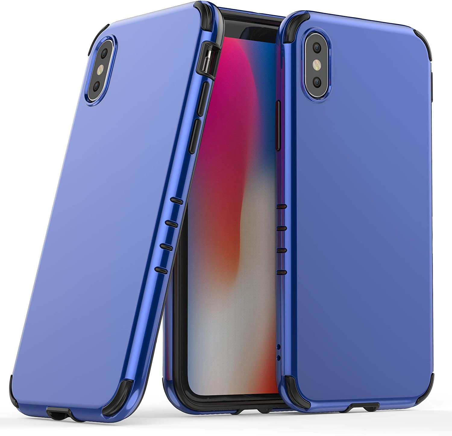JBZTech Shock Absorption Slim Armor Phone case for iPhone Xs Max (Blue)