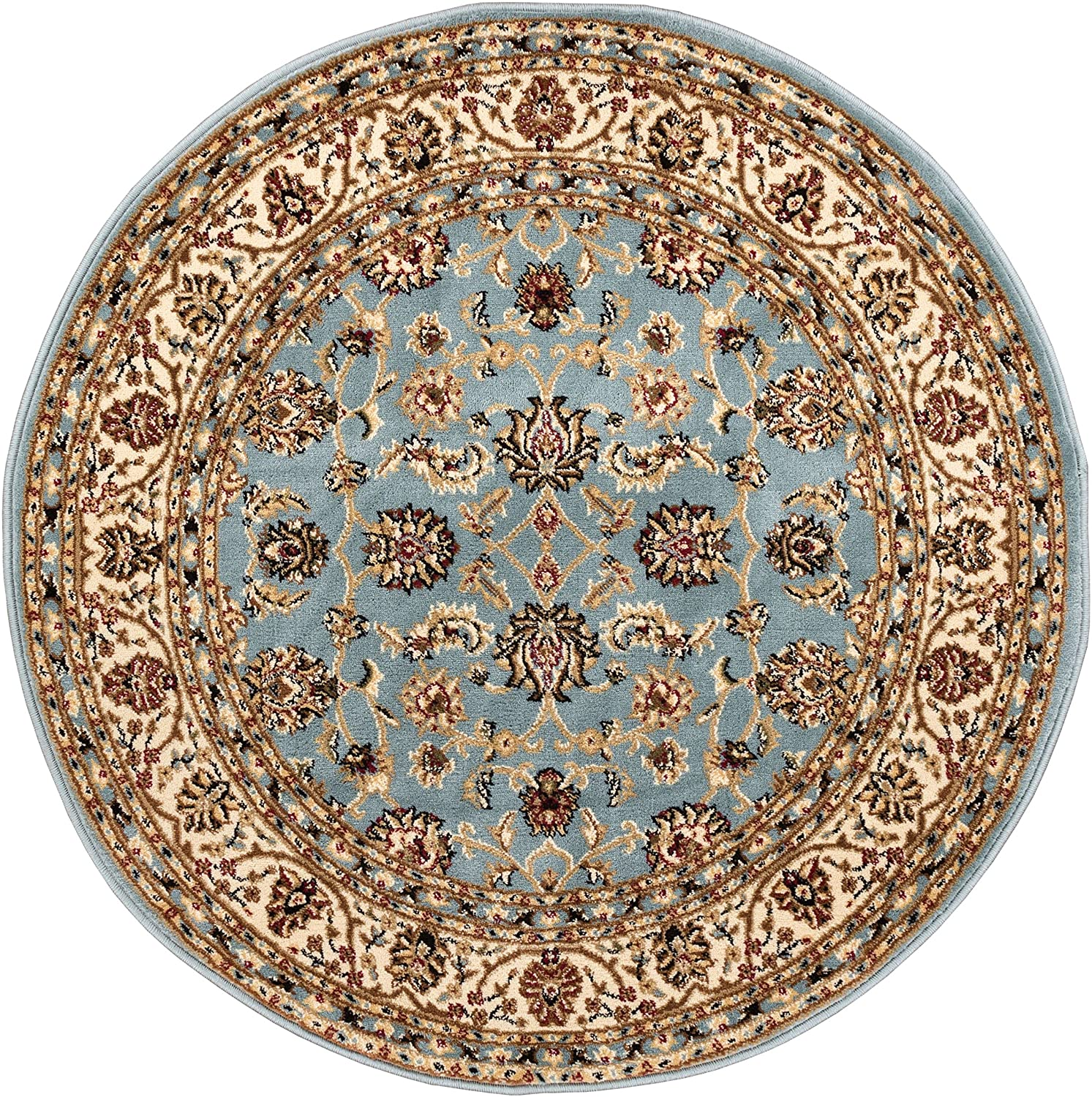 Well Woven Barclay Sarouk Light Blue Traditional Area Rug 3'11