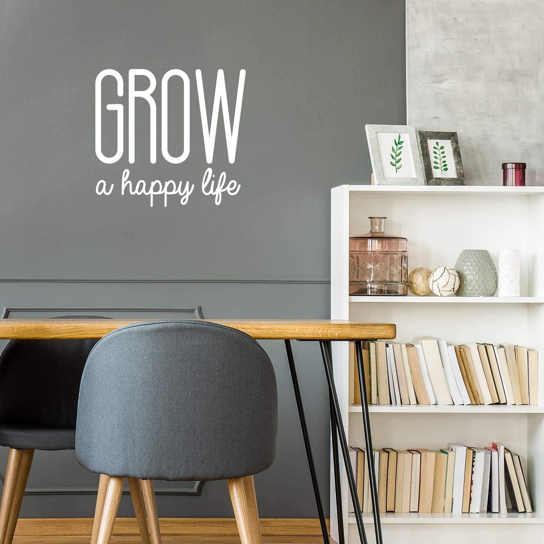 Vinyl Wall Art Decal - Grow A Happy Life - 22