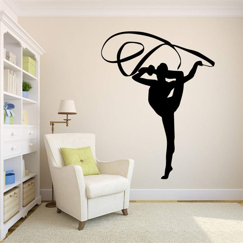 Colored Belt Dance WallDecals,VinylRemovablePVCStickersDecor forHomeBedroomLivingRoom Decoration 21.7×28.0 in