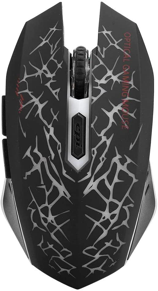 sjlerst USB Mouse, Black Mute Wireless Mouse, Gaming Mouse, for Laptop for Notebook