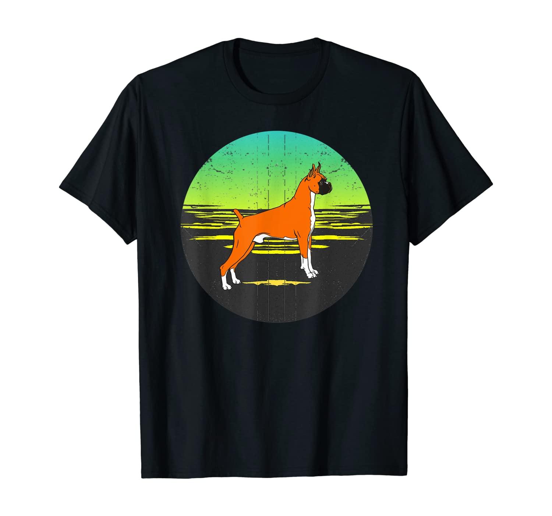 Graphic 365 Dog Breed Boxer Retro Sunset Style T-Shirt