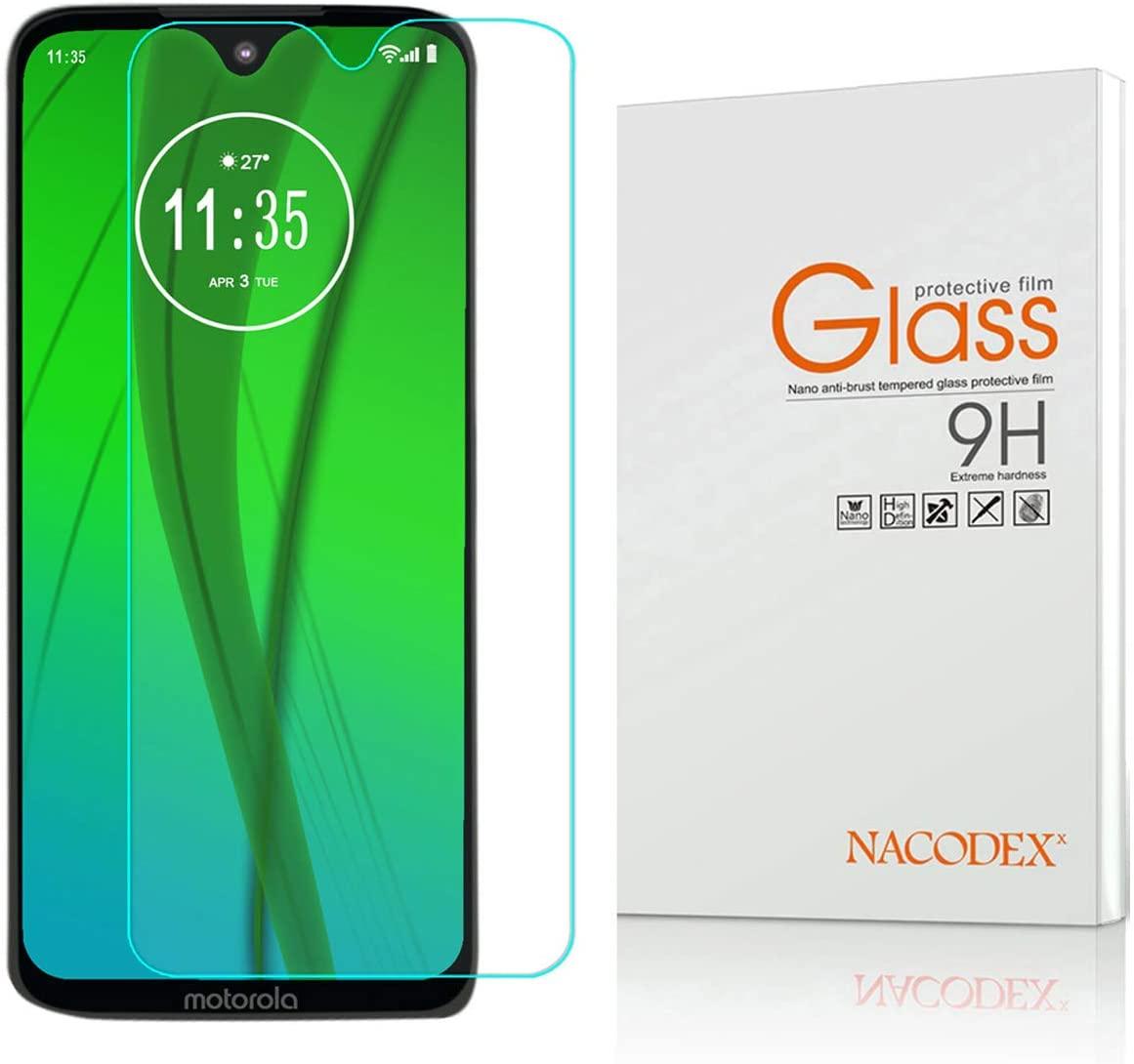 Motorola Moto G7 Screen Protector, Nacodex Tempered Glass Screen Protector for Moto G7 9H HD-Clear Ant-Scratch Glass Protector