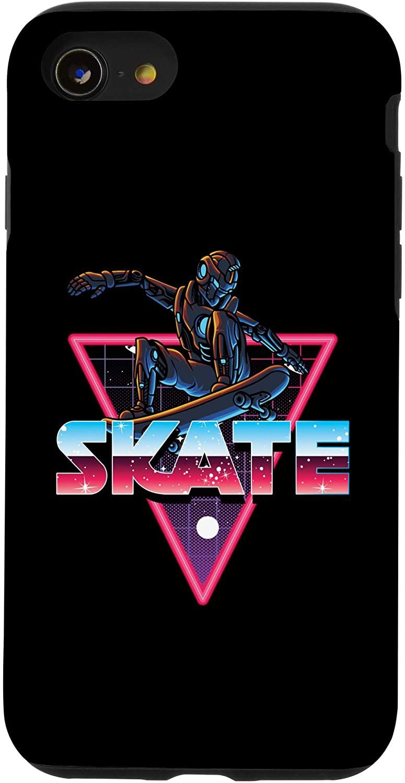 iPhone SE (2020) / 7 / 8 Skate Robot Spaceman Space Skating Skateboard Skater Gift Case