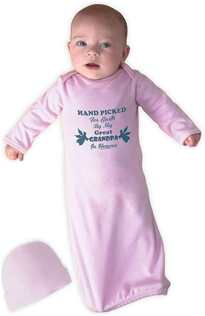Hand Picked for by My Great Grandpa in Heaven Cotton Newborn Sleeping Gown