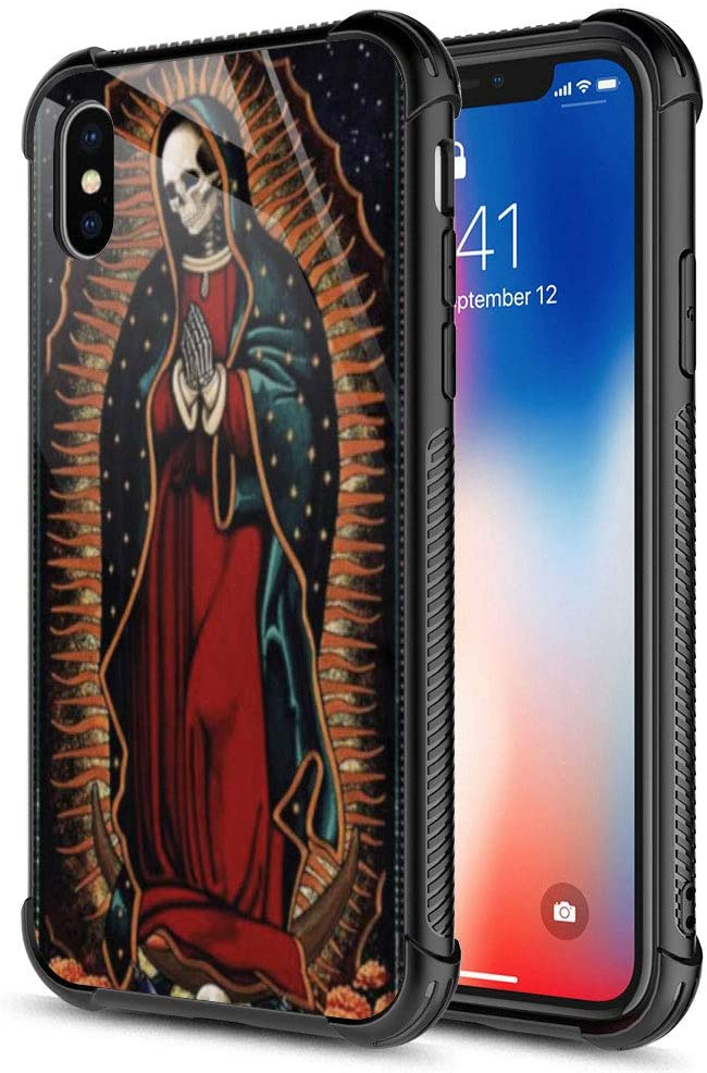 iPhone Xs MAX Case,Santa Muerte iPhone Xs MAX Cases for Girls Boys,Fashion Graphic Design Shockproof Anti-Scratch Drop Protection Case for Apple iPhone Xs MAX