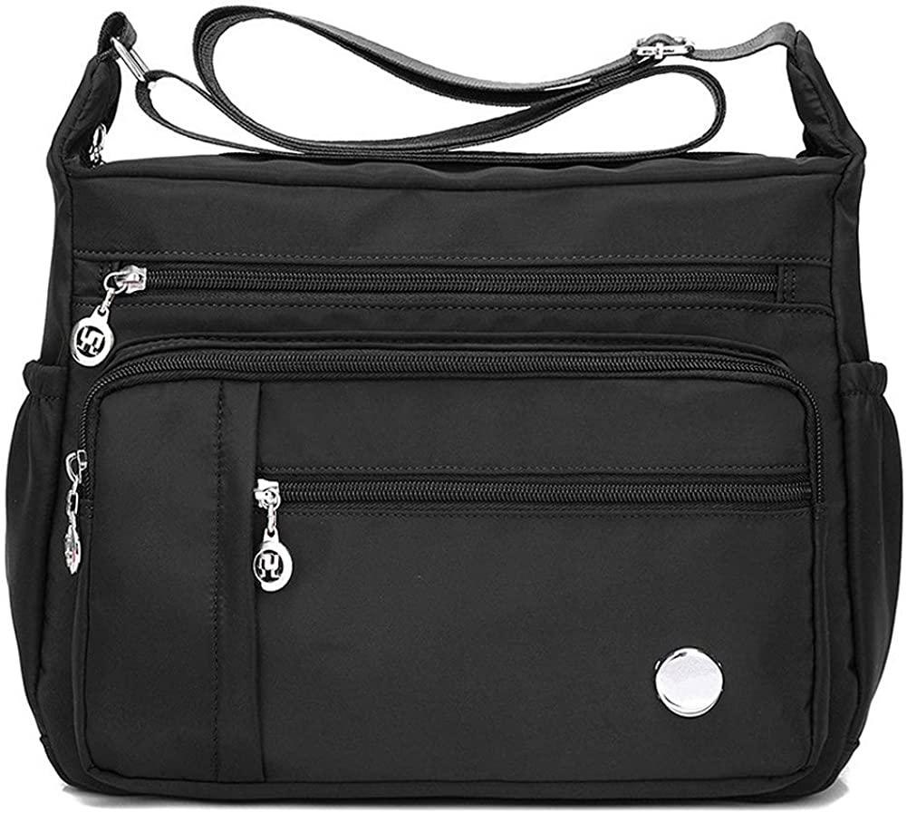 Zokrintz Women Shoulder Handbag Fashion Tote Top Handle Satchel Roomy Multiple Pockets Bag Ladies Crossbody Purse