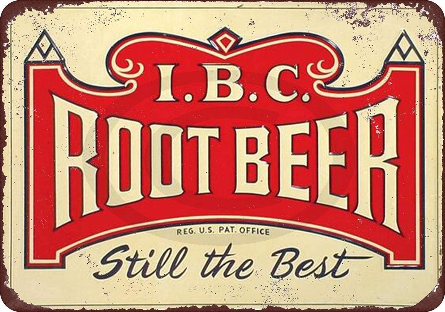 MAIYUAN Metal Tin Signs-New Tin Sign IBC Root Beer Still The Best Vintage Look Aluminum Metal Sign 8x12 Inches (H9-D064)