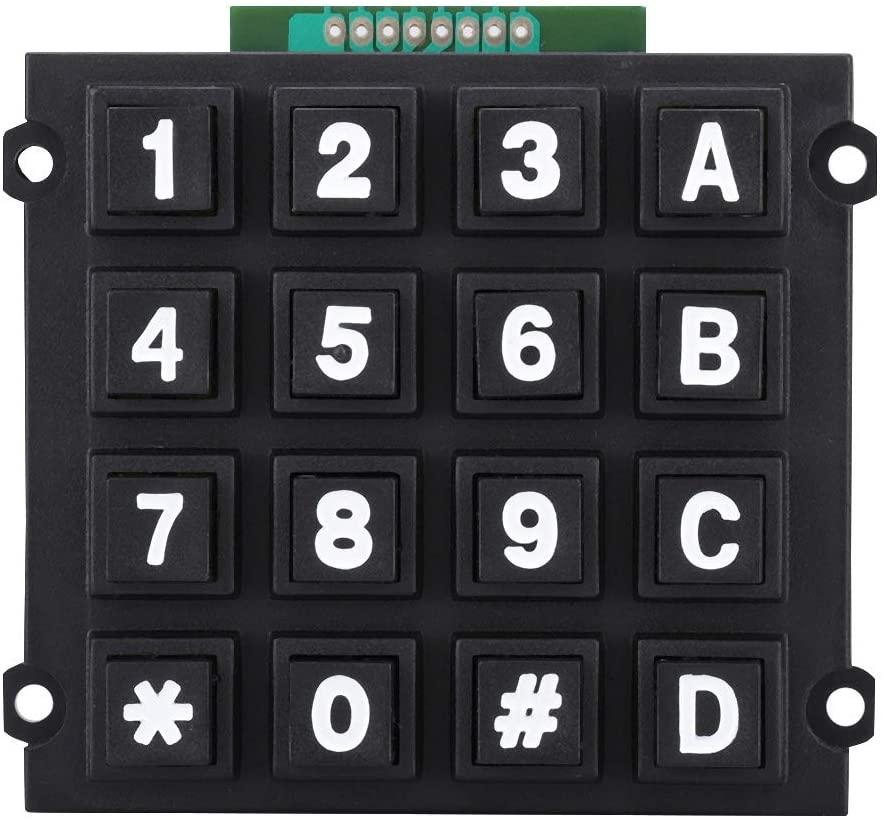 4x4 Push Buttons External Module 100%, Keyboard Modules with 16 Keys Button Keyboard Module 16 Button for MCU