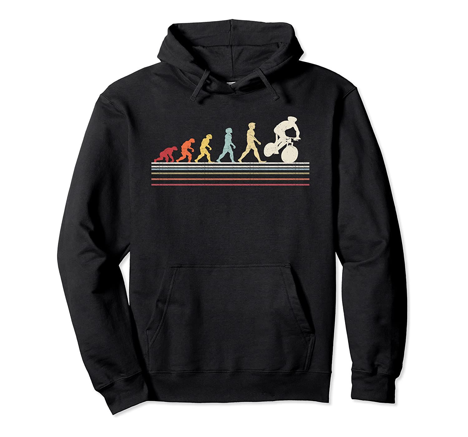 Funny Cycling Evolution Of Man Sport Retro Vintage Gift Pullover Hoodie