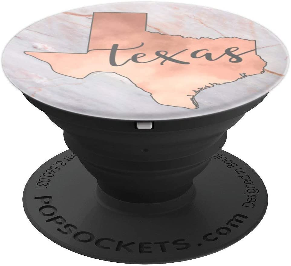 Texas State Rose Pink PACC472 PopSockets Grip and Stand for Phones and Tablets
