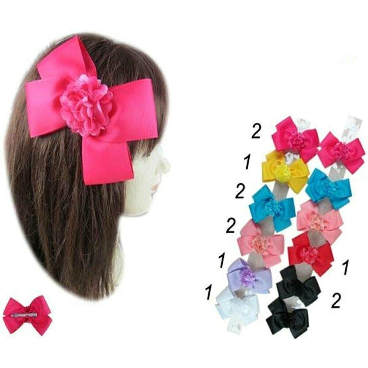 12pcs Baby Girl Toddler Daisy Kid Hair Bow Alligator Clip Pin Boutique Ribbon 6