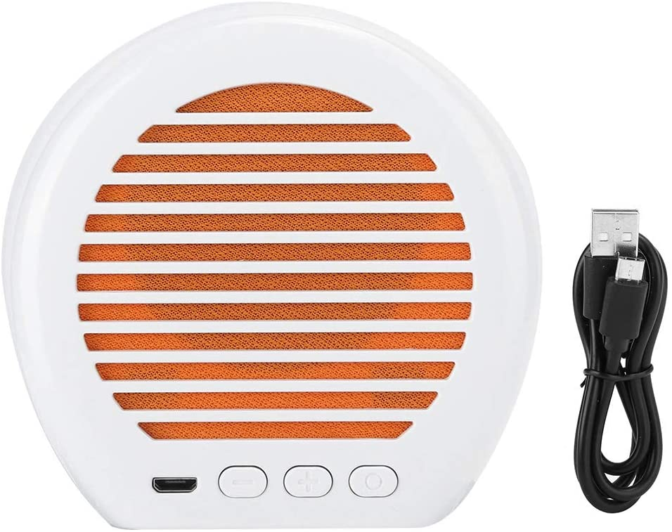 Junluck Bluetooth Speaker, Compact and Portable Mini Speaker, TWS Interconnection for Home, with LED Light Supplies,(White)