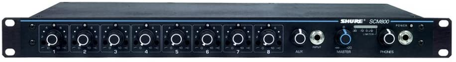 Shure, 8 Instrument Condenser Microphone, Black (SCM800)