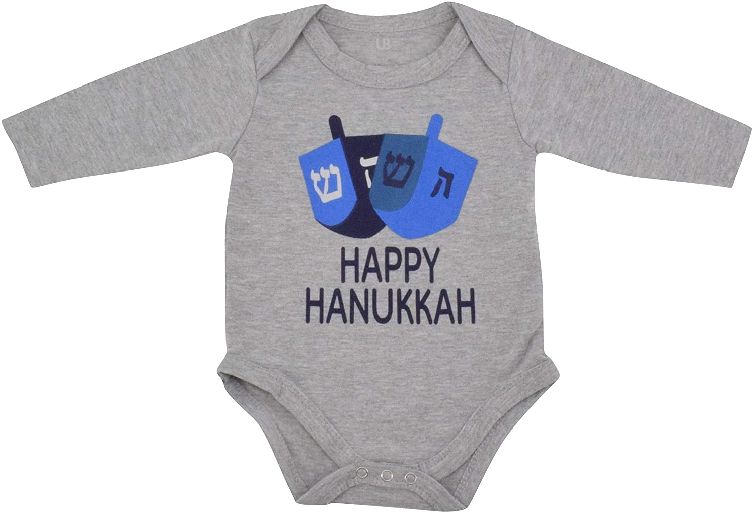 Unique Baby Boys Happy Hanukkah Layette Bodysuit Tshirt Baby's First