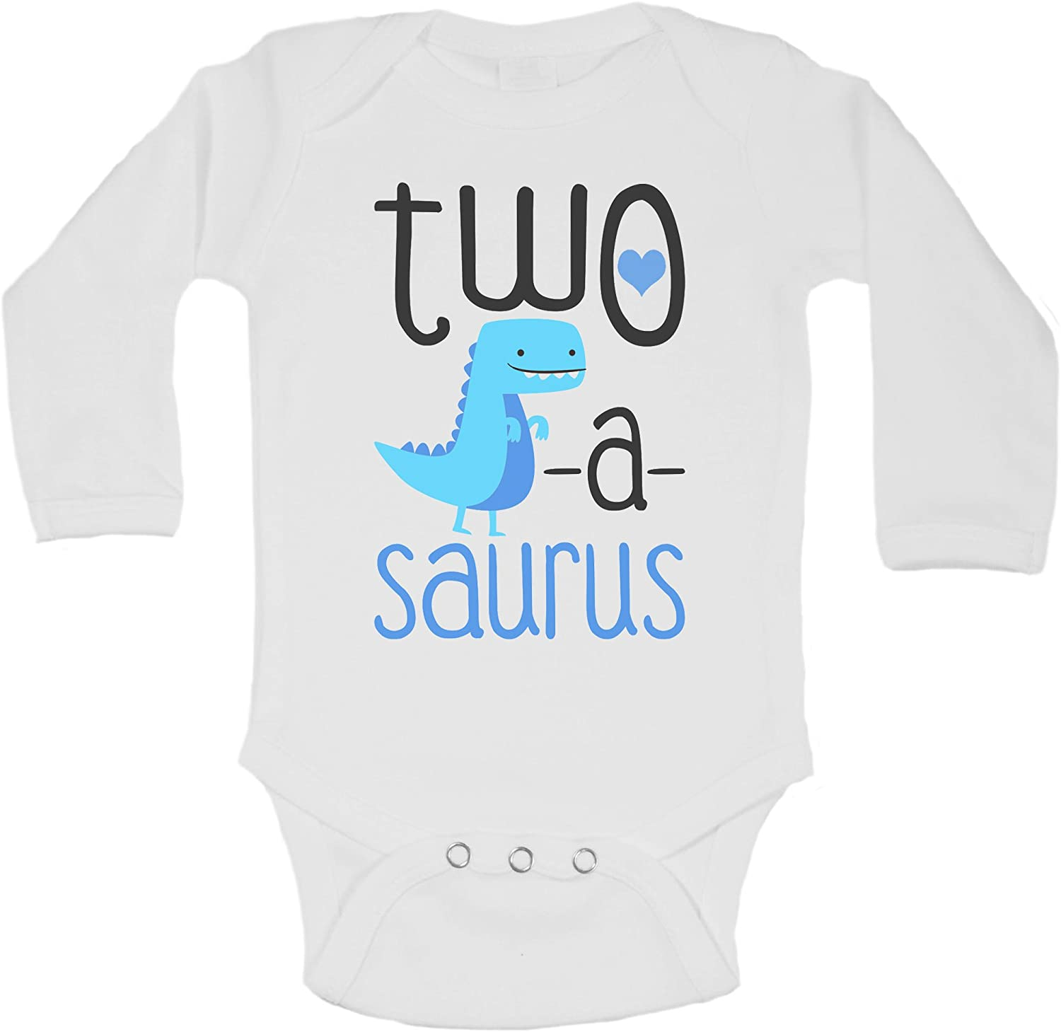 "Funny Threadz Funny Kids Onesie ""Two. Toddler Shirt Kids 0 Months, White"