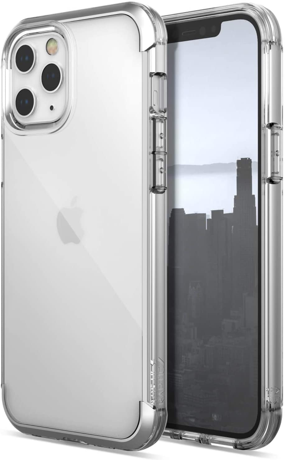 Raptic Air, iPhone 12 & iPhone 12 Pro Case - Military Grade Drop Tested, Anodized Aluminum, TPU, and Polycarbonate Protective Case for Apple iPhone 12 & iPhone 12 Pro, Clear
