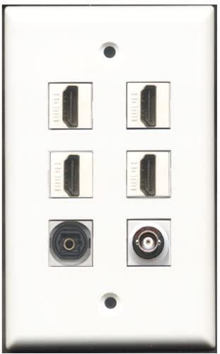 RiteAV - 4 Port HDMI 1 Toslink 1 BNC Wall Plate
