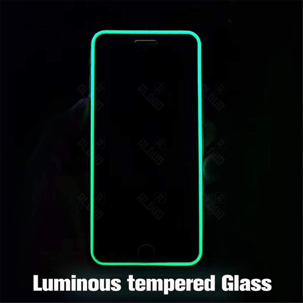 Luminous Full Cover Tempered Glass for Apple iPhone 6 / iPhone 6 Plus/iPhone 6S / iPhone 6S Plus Screen Protector Luminous Film,Anti Scratch,Anti-Glare,(2 Pack) (iPhone 6)