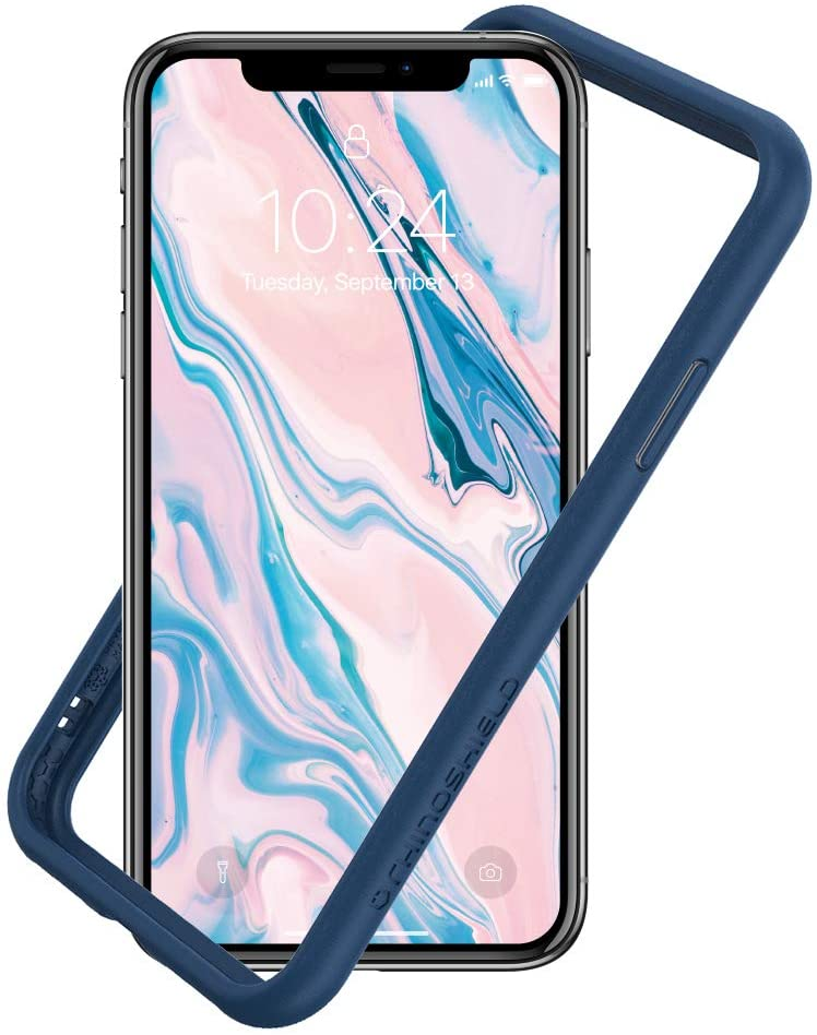 RhinoShield Ultra Protective Bumper Case Compatible with [iPhone Xs/X] | CrashGuard NX - Military Grade Drop Protection Against Full Impact, Slim, Scratch Resistant - Royal Blue