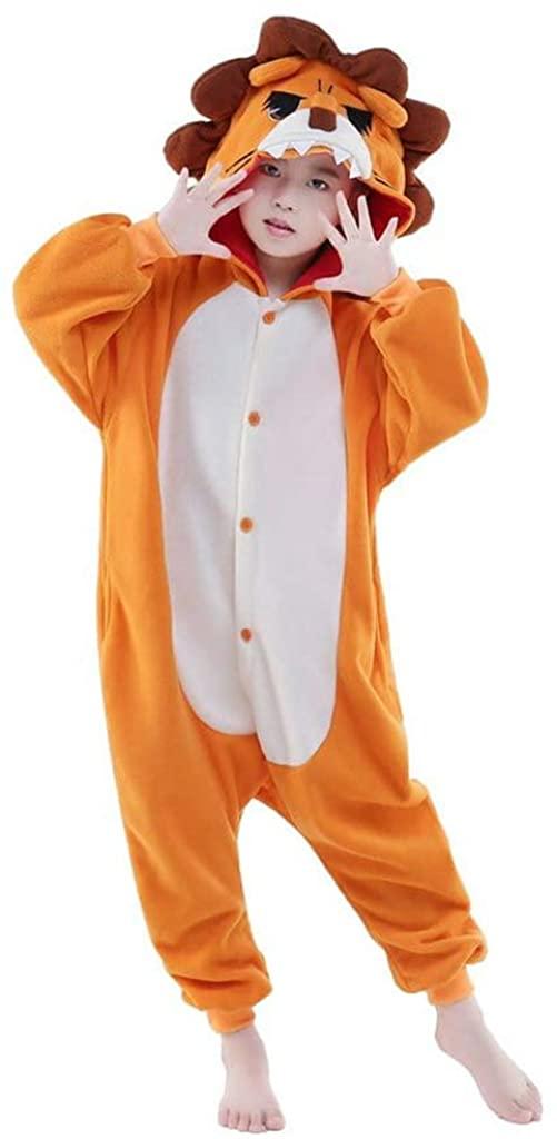 LUOMON Unisex Kids Plush Animal Onesies Children Pajamas Halloween Christmas Costume