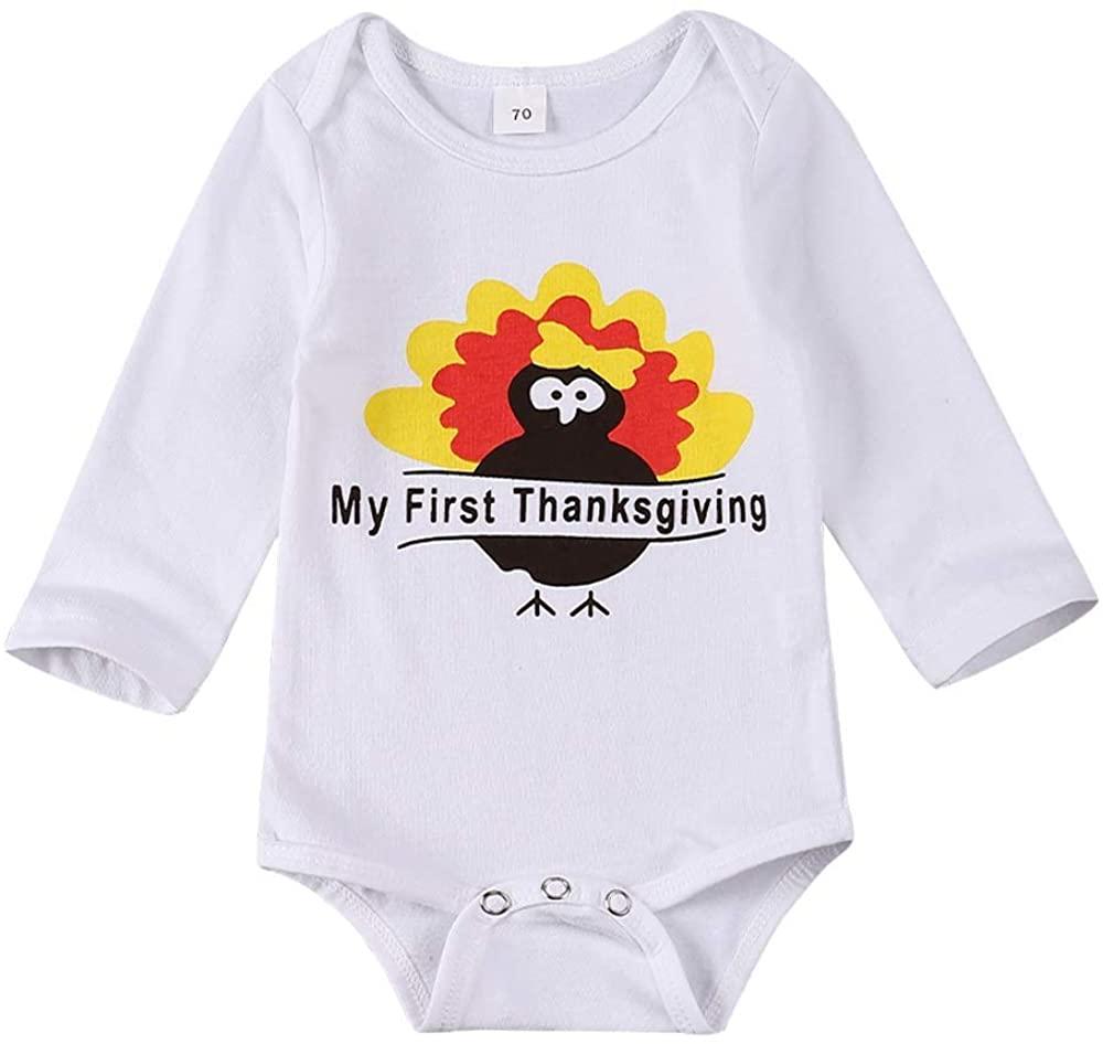 SUPNON Funny Thanksgiving Baby Unisex Bodysuit Infant Toddler Boy Girl Long Sleeve Onesies