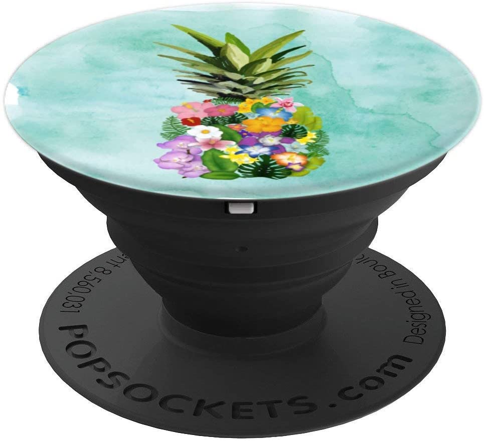Pineapple Beach Tropical Food Beachy Gift Mint Green PopSockets Grip and Stand for Phones and Tablets