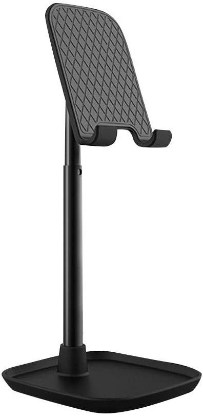 UMei Desktop Cell Phone Stand Adjustable, Cell Phone Holder, Foldable Portable Desktop Stand, Phone Holder Stand Bracket for Desk Sturdy Aluminum Metal Stand Compatible with All Mobile Phone