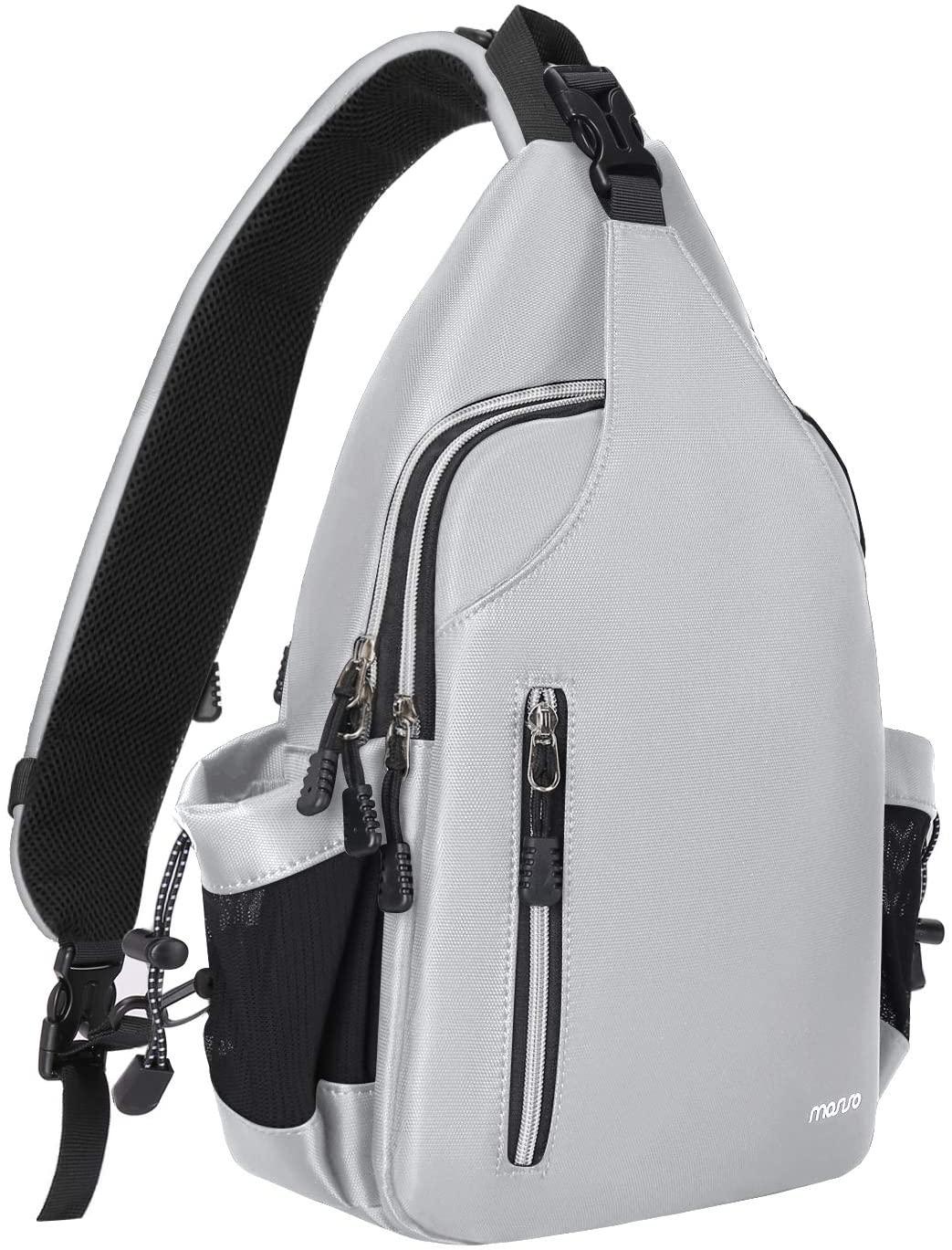 MOSISO Sling Backpack Double Layer Hiking Daypack Men/Women Chest Shoulder Bag