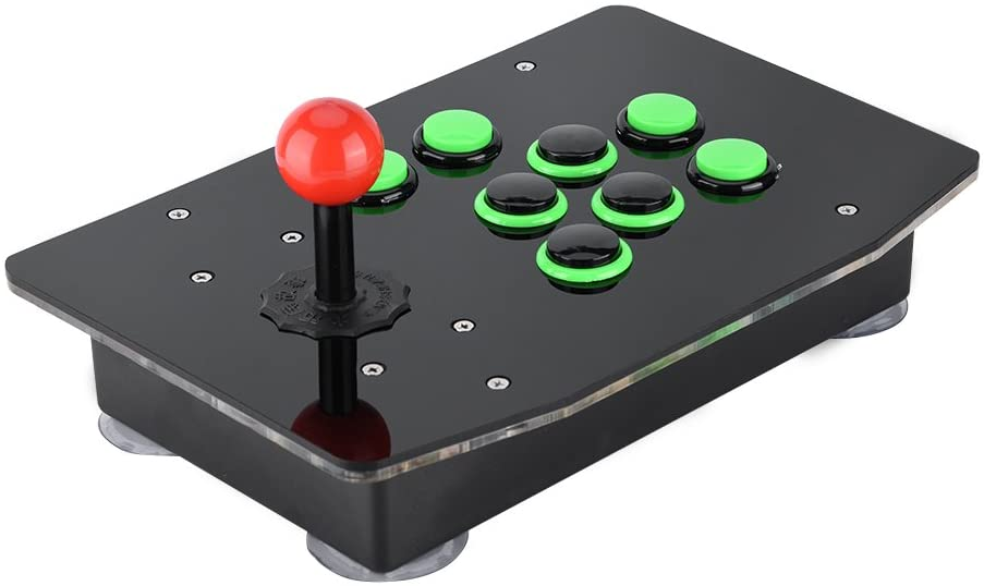 fosa USB Arcade Fighting Game Console Joystick No Delay Controller Support 2-Player Games for PC Computer Games Compatible with Rocker Platform/GOTVG Platform/ACR Platform