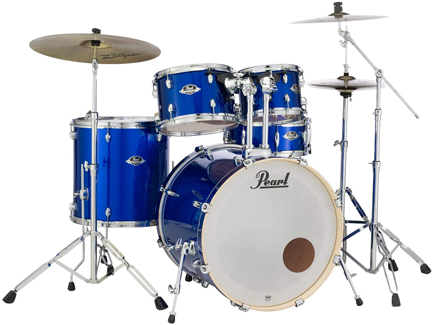 Pearl Export EXX 5-Piece Drum Set with Cymbals Hardware - High Voltage Blue