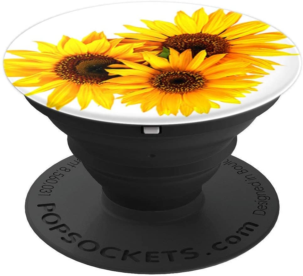 Cute Yellow Sunflower Decor Helianthus Design PopSockets Grip and Stand for Phones and Tablets