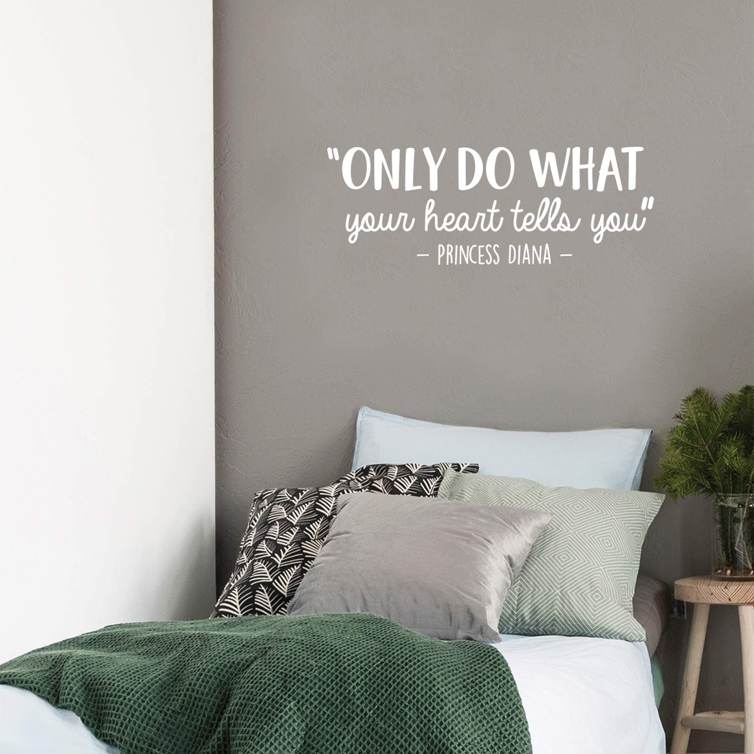 Vinyl Wall Art Decal - Only Do What Your Heart Tells You - 10.5