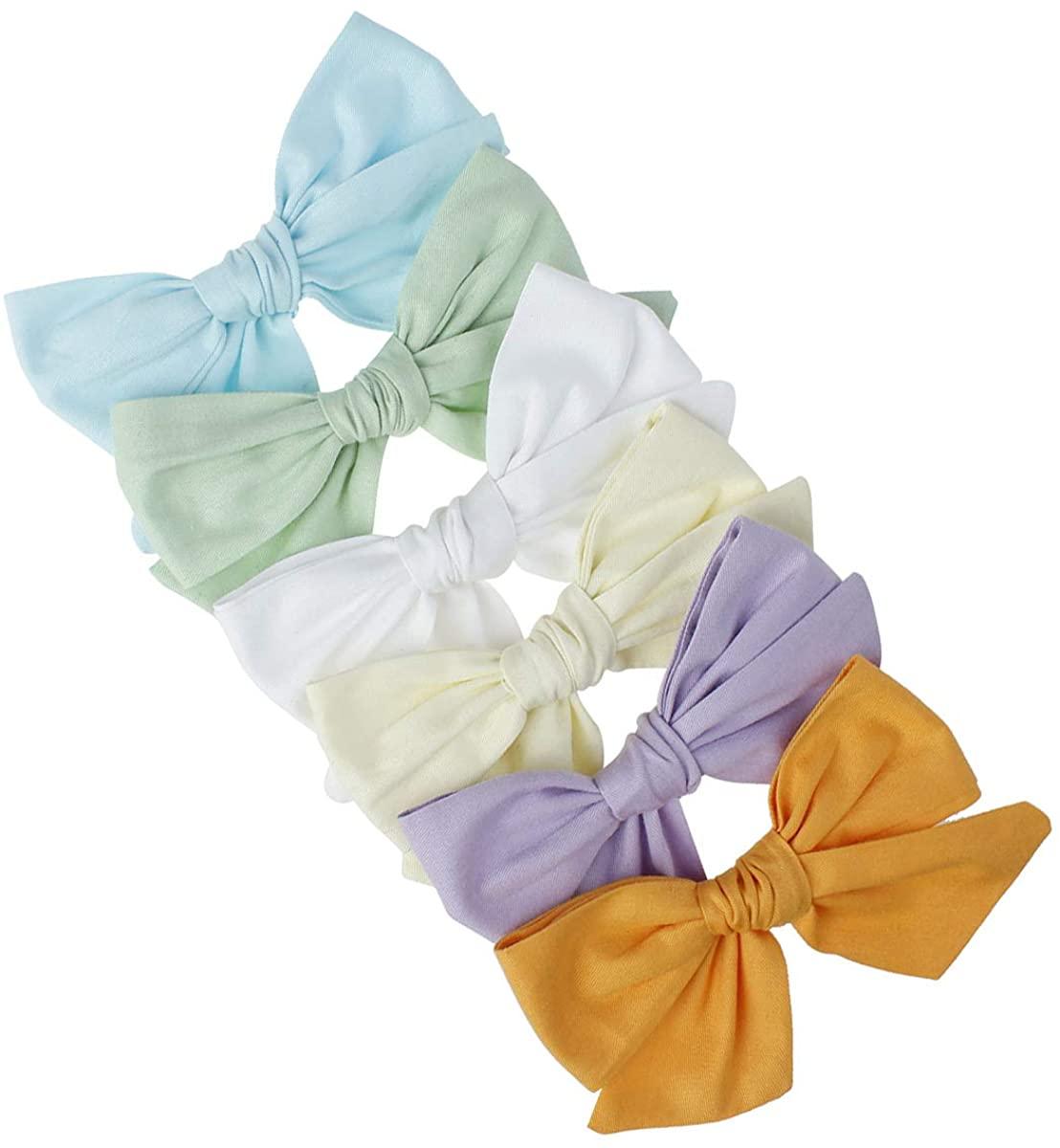 ROSEBEAR Hair Clip Baby Hair Bows Hair Barrettes Toddlers Kids Girl Hair Accessories(6pcs)