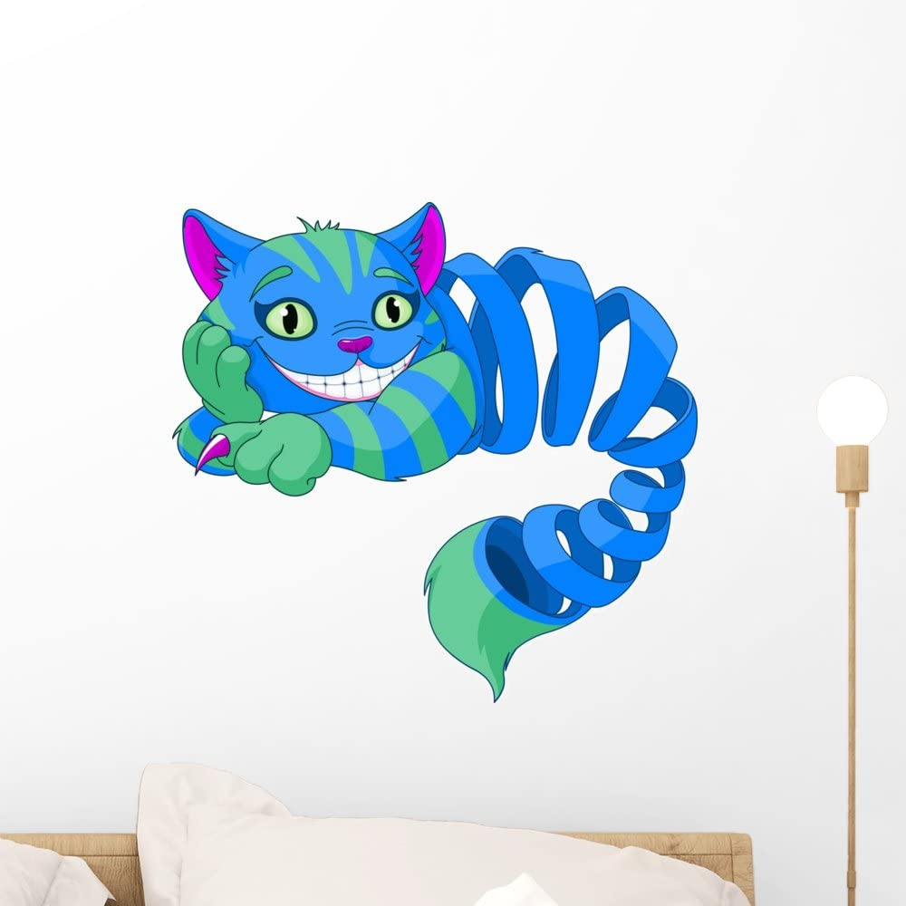Wallmonkeys WM230207 Disappearing Cheshire Cat Peel and Stick Wall Decals (18 in W x 17 in H), Small