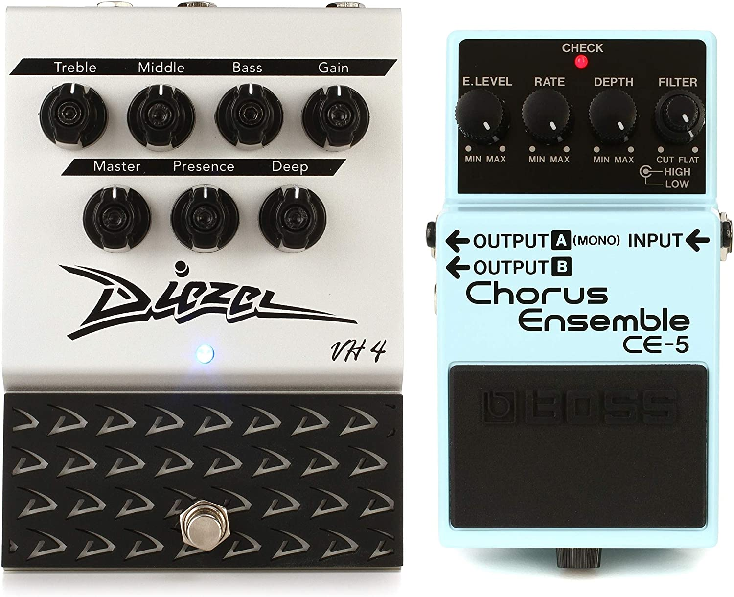 Diezel VH4 Pedal Overdrive and Preamp + Boss CE-5 Stereo Chorus Ensemble Pedal Value Bundle