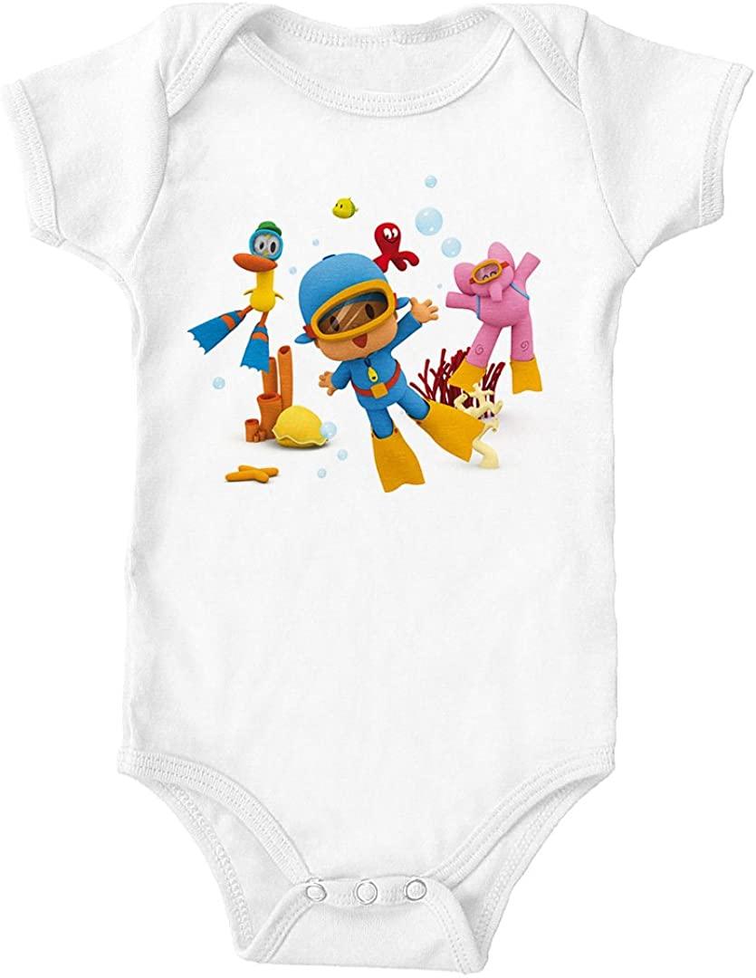 Trunk Candy Pocoyo - Elly, Pato & Pocoyo Scuba Scene Infant 100% Cotton One-Piece Bodysuit