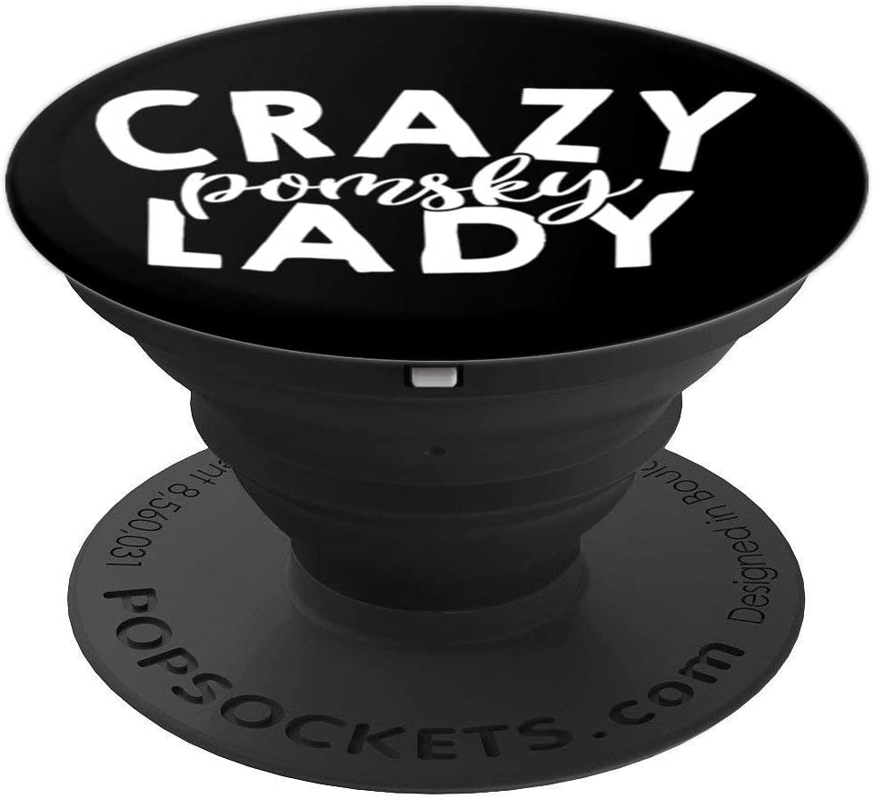 Crazy Pomsky Lady ACF101i Dog Lover PopSockets Grip and Stand for Phones and Tablets